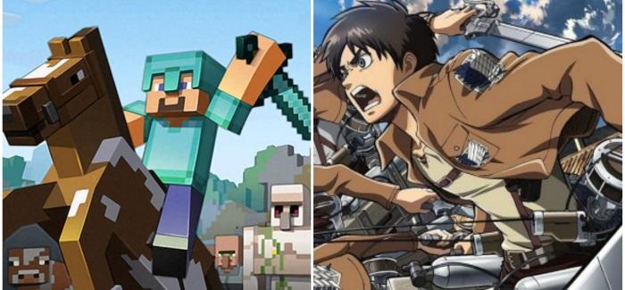 Attack on Titan + Minecraft = O_O
